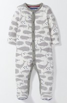 Infant Boy's Mini Boden Whales Fitted Footie