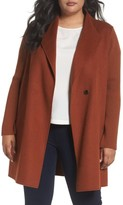Kenneth Cole New York Plus Size Women's Double Face Coat
