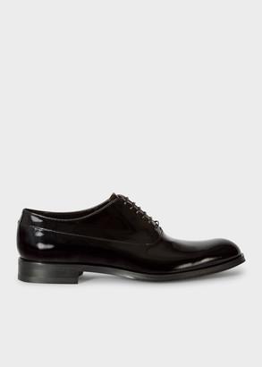 Paul Smith Men's Black Patent Leather 'Noam' Oxford Shoes