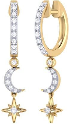 Lmj Starlit Crescent Hoop Earrings In 14 Kt Yellow Gold Vermeil On Sterling Silver