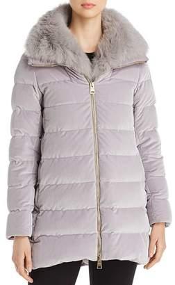 Herno Fur-Collar Velvet Down Coat - 100% Exclusive