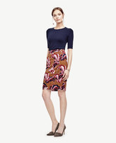 Ann Taylor Petite Fanned Floral Pencil Skirt