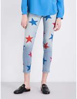 Stella McCartney Star-print skinny mid-rise jeans