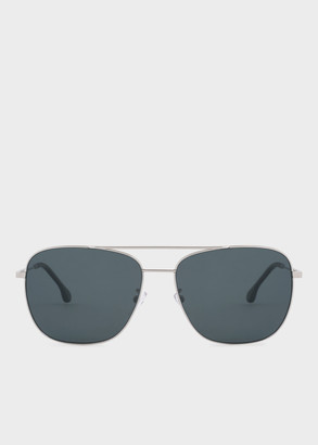 Paul Smith Silver And Solid Grey 'Avery' Sunglasses