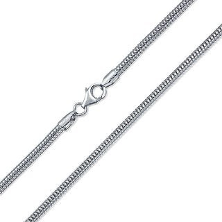 Bling Jewelry Snake Magic Strong Flexible Link Chain 320 Gauge Sterling Silver