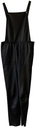 Designers Remix Black Leather Jumpsuit for Women