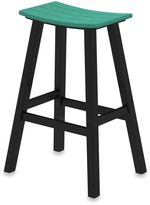 Polywood Contempo 30-Inch Saddle Bar Stool w/ Black Frame