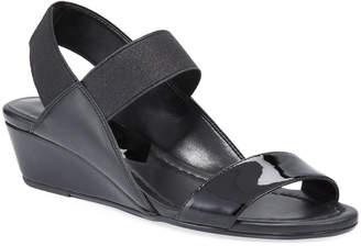 Donald J Pliner Elsie Patent/Napa Demi-Wedge Sandals