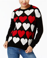 Love Moschino Heart-Print Sweater