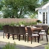 Sol 72 Outdoor Brighton 13 Piece Dining Set with Cushions Sol 72 Outdoor Color: Brown