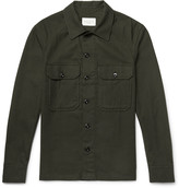 Sandro - Slim-fit Cotton-flannel Overshirt