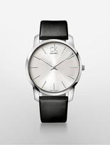 Calvin Klein City Leather Watch