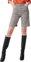 Maje Check Bermuda Shorts