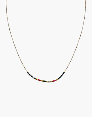 Madewell Cast of Stones Beaded Intention Necklace in Red Multicolor