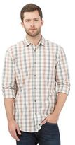 Mantaray Big And Tall Orange Checked Shirt