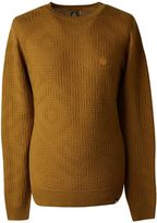 Pretty Green Knitted Jacquard Crew Neck Jumper