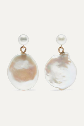 NATASHA SCHWEITZER Keshi Gold Pearl Earrings