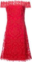 Tadashi Shoji floral lace bardot dress - women - Nylon/Polyester/Rayon - 6