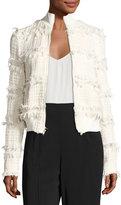 A.L.C. Judd Frayed Boucle Jacket, Neutral