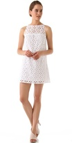 Floral Eyelet Shift Dress