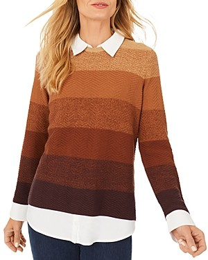 Foxcroft Sanders Layered Look Sweater
