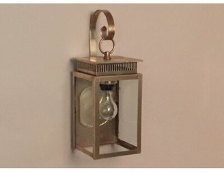 Brass Traditions 1800 Series 1-Light Outdoor Wall Lantern Fixture Finish: Antique Brass, Shade Finish: Clear