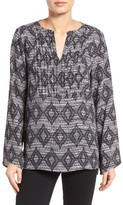 Chaus Women's Nomad Print Pintuck Blouse