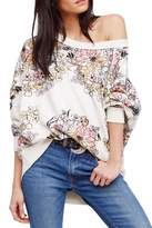 Free People Floral Printed Pullover