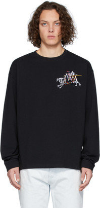 J.W.Anderson Black Camelot Embroidery Long Sleeve T-Shirt