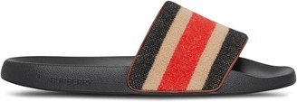 Burberry Striped Strap Slides