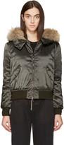 Moncler Green Down Eulimene Coat