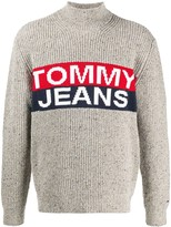 Tommy Jeans logo roll neck jumper