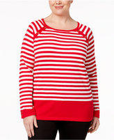 Karen Scott Plus Size Striped Sweater, Only at Macy's