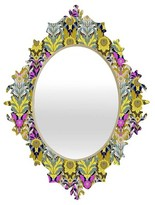 DENY Designs Mary Yellow Baroque Mirror
