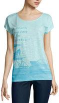 ST. JOHN'S BAY St. John's Bay Short Sleeve Scoop Neck T-Shirt