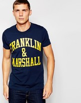 Franklin & Marshall T-shirt With Franklin & Marshall Print - Blue