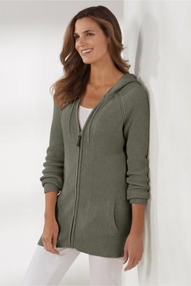 Petites Sweater Zip Hoodie