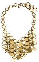 Dannijo Marinella Stars & Hearts Chainmail Bib Necklace