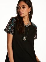 Scotch & Soda Top With Embroidered Sleeves