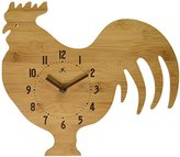 Infinity Instruments Roost and Serve Bamboo Wall Clock