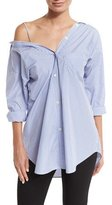 Theory Tamalee Dalton Stripe Shirt, Blue/White