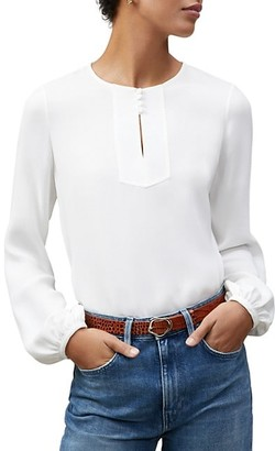 Lafayette 148 New York Kaden Silk Puff-Sleeve Blouse