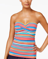 Anne Cole Triangle Striped Twist Tankini Top