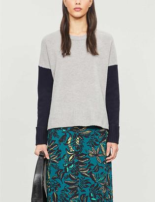 Whistles Freida colour-blocked wool jumper