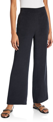 Go Silk Plus Size Solid Unlined Silk Crepe Pants