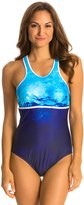 Nautica H2O Active Into the Blue Racer Back Soft Cup One Piece Swimsuit 8128371