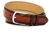Mezlan Burnished Edge Leather Belt