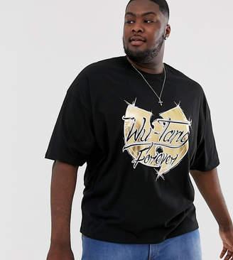 Asos Design DESIGN Plus Wu-Tang Clan oversized t-shirt-Black