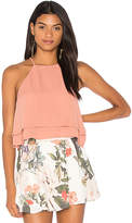 Show Me Your Mumu Evie Crop Top in Mauve. - size L (also in M,S,XS)