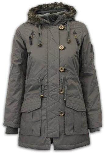 Thumbnail for your product : Brave Soul Ladies Jacket Military Khaki UK 10